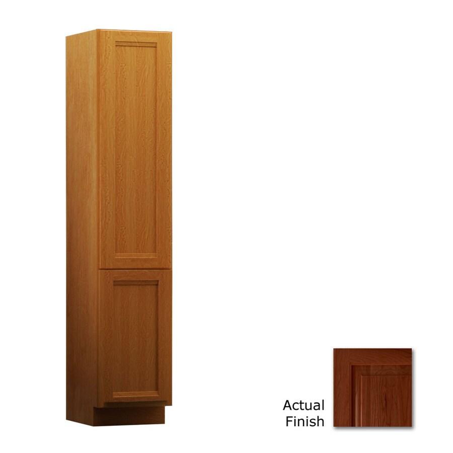 KraftMaid 15-in W x 88.5-in H x 21-in D Autumn Blush Cherry Freestanding Linen Cabinet