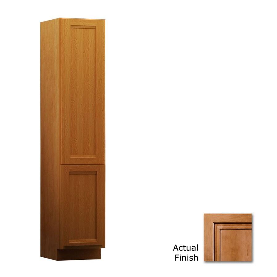 KraftMaid Sonata 18-in W x 88.5-in H x 21-in D Maple Linen Cabinet
