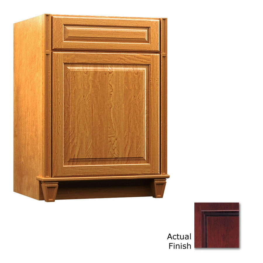 KraftMaid Key Biscayne Montclair Cabernet Traditional Bathroom Vanity (Common: 24-in x 18-in; Actual: 24-in x 18-in)