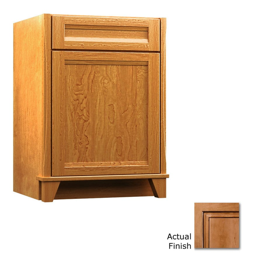 KraftMaid Tribecca Sonata Ginger with Sable Glaze Contemporary Bathroom Vanity (Common: 24-in x 21-in; Actual: 24-in x 21-in)