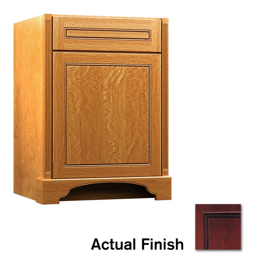 KraftMaid Savoy Provence Cabernet Traditional Bathroom Vanity (Common: 24-in x 21-in; Actual: 24-in x 21-in)