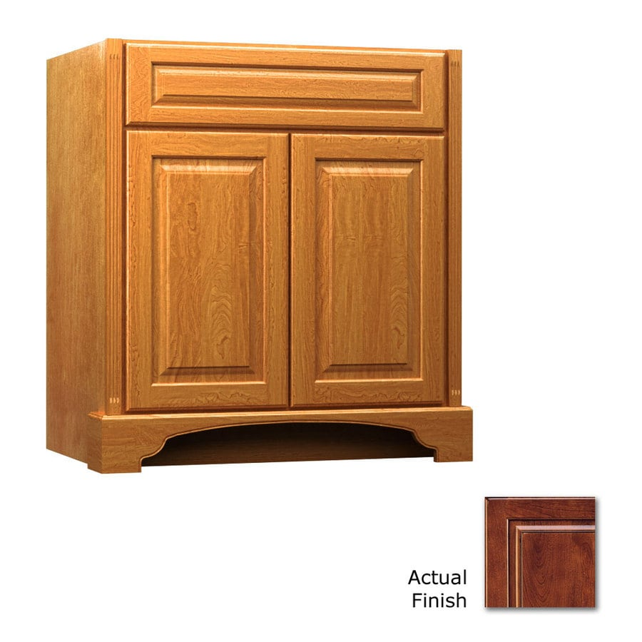 KraftMaid Savoy Montclair Antique Chocolate with Mocha Glaze Traditional Bathroom Vanity (Common: 30-in x 18-in; Actual: 30-in x 18-in)