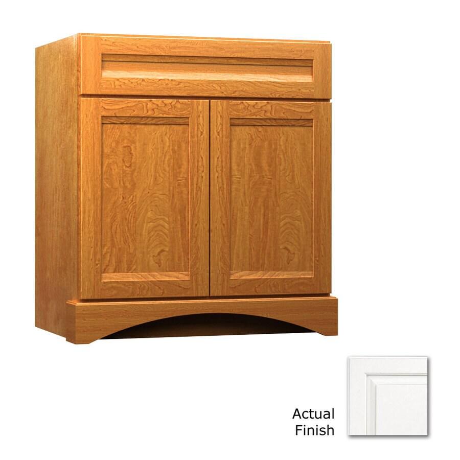 KraftMaid Summerfield Sonata Dove White Casual Bathroom Vanity (Common: 30-in x 21-in; Actual: 30-in x 21-in)
