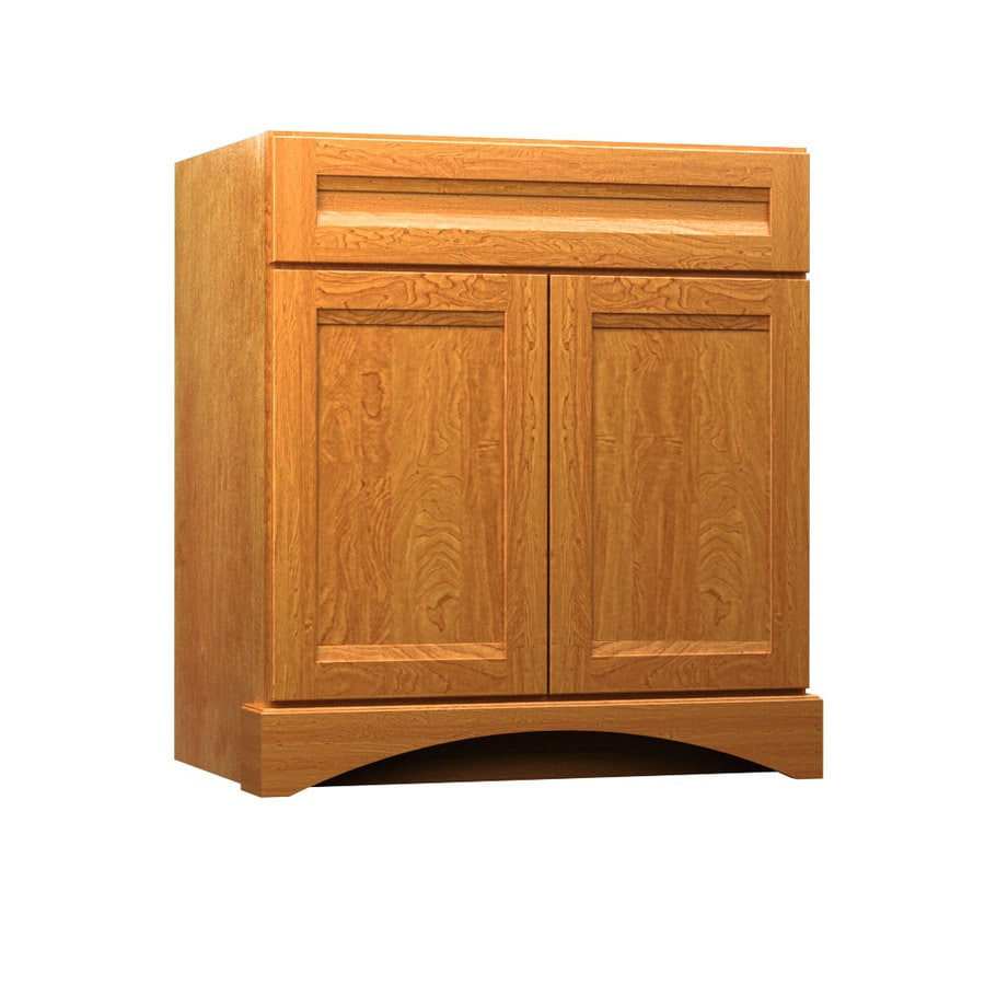KraftMaid Summerfield Sonata Praline Casual Bathroom Vanity (Common: 30-in x 21-in; Actual: 30-in x 21-in)