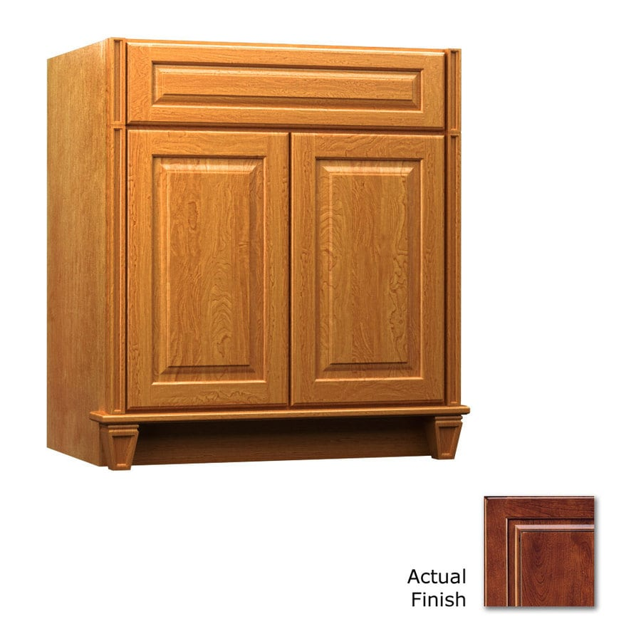 KraftMaid Key Biscayne Montclair Antique Chocolate with Mocha Glaze Traditional Bathroom Vanity (Common: 36-in x 18-in; Actual: 36-in x 18-in)