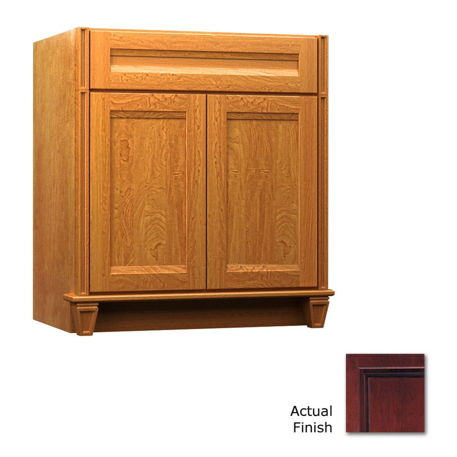KraftMaid Key Biscayne Sonata Cabernet Traditional Bathroom Vanity (Common: 36-in x 21-in; Actual: 36-in x 21-in)