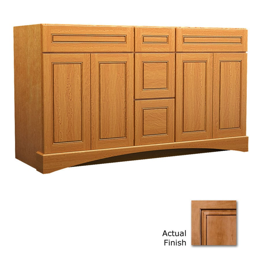 KraftMaid Summerfield Provence Ginger with Sable Glaze Casual Bathroom Vanity (Common: 60-in x 21-in; Actual: 60-in x 21-in)
