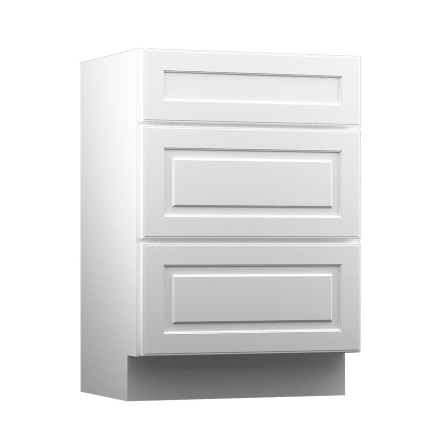 KraftMaid North Bay White Casual Bathroom Vanity (Common: 24-in x 18-in; Actual: 24-in x 18-in)