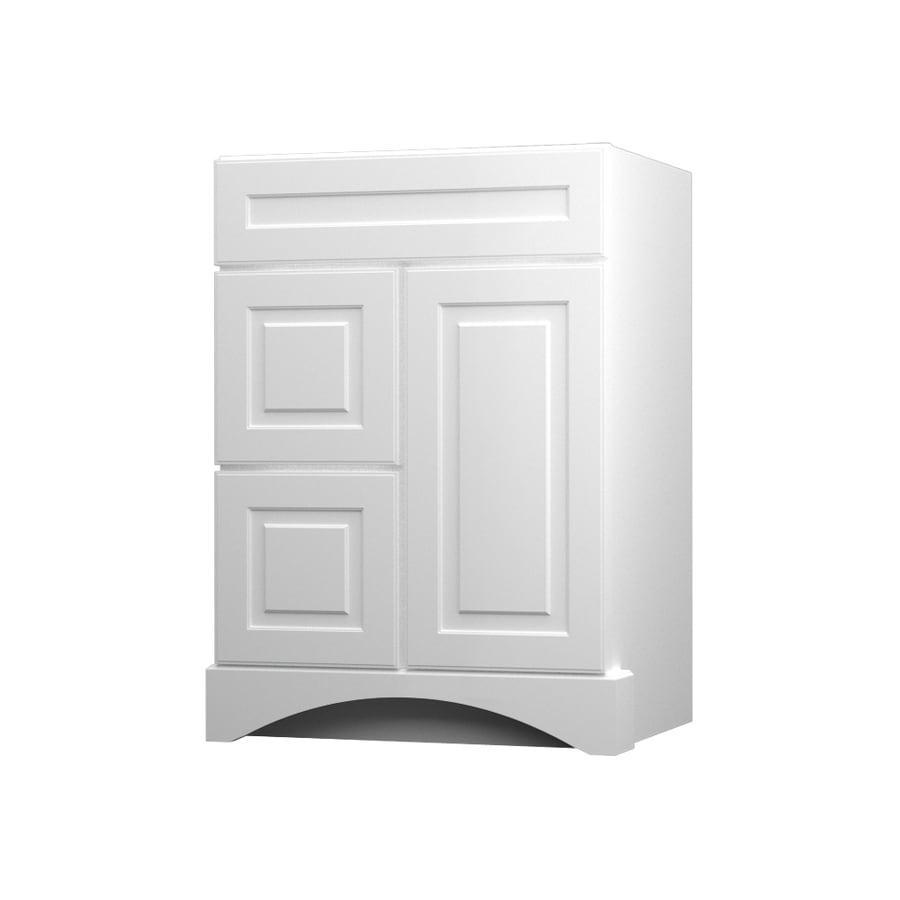 KraftMaid Summerfield North Bay White Casual Bathroom Vanity (Common: 24-in x 21-in; Actual: 24-in x 21-in)
