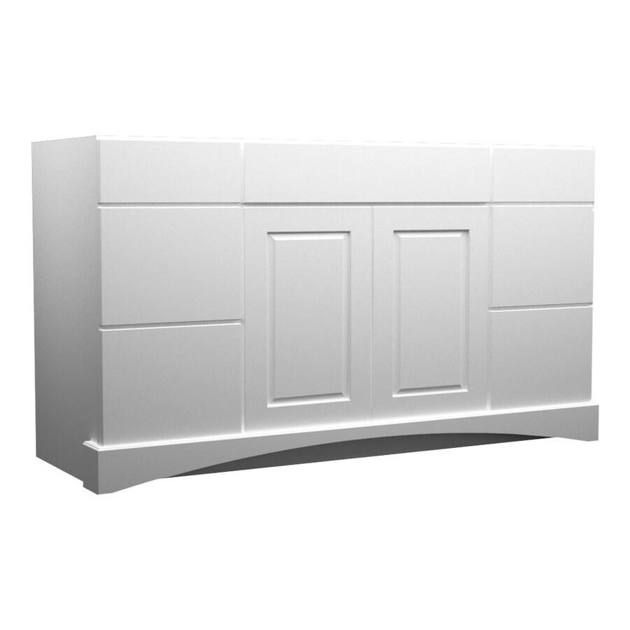 KraftMaid Summerfield North Bay White Casual Bathroom Vanity (Common: 60-in x 21-in; Actual: 60-in x 21-in)