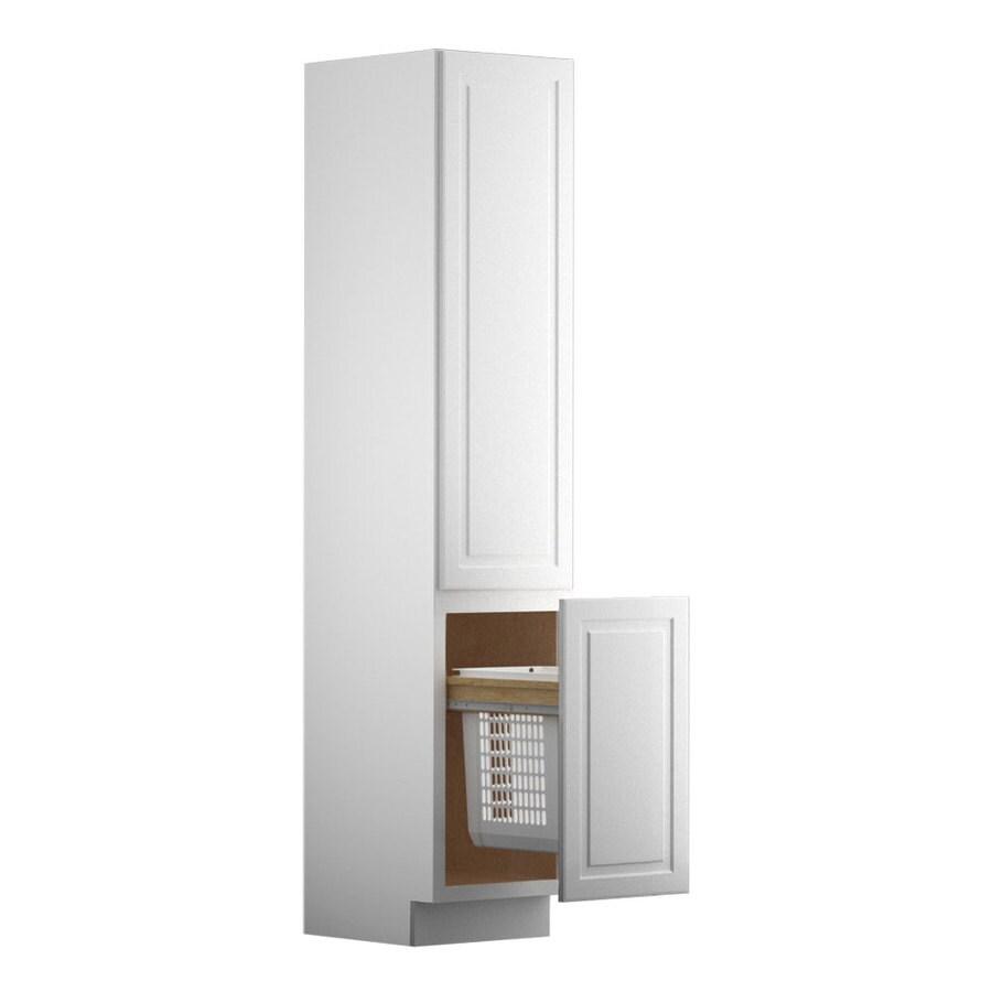 KraftMaid 18-in W x 88.5-in H x 21-in D Maple Linen Cabinet