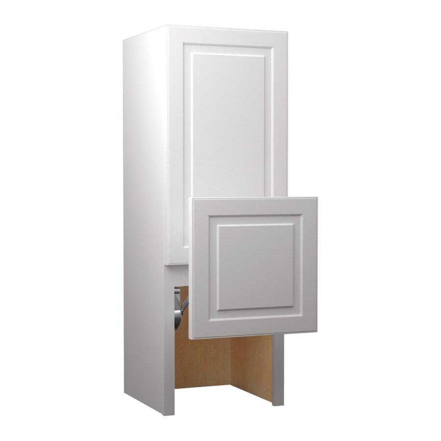 KraftMaid 18-in W x 52.5-in H x 15-in D Maple Freestanding Cabinet Banks