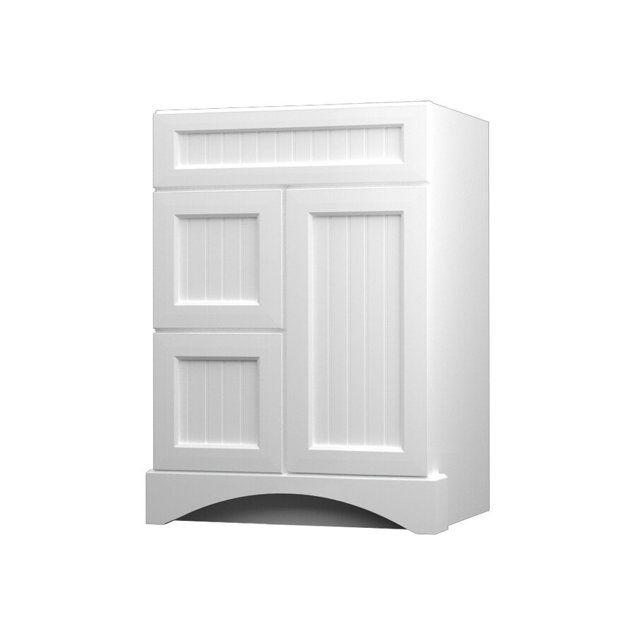KraftMaid Summerfield Nordic White Casual Bathroom Vanity (Common: 24-in x 21-in; Actual: 24-in x 21-in)