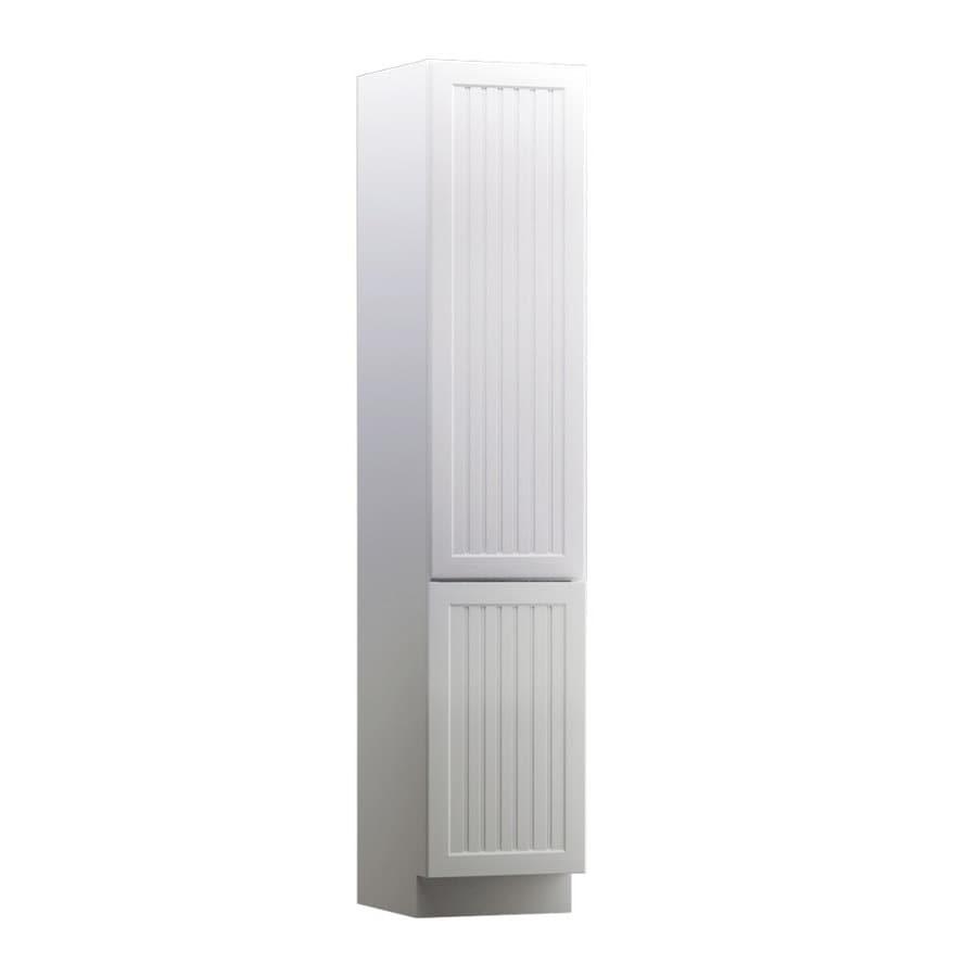 KraftMaid Nordic 15-in W x 88.5-in H x 18-in D Maple Linen Cabinet