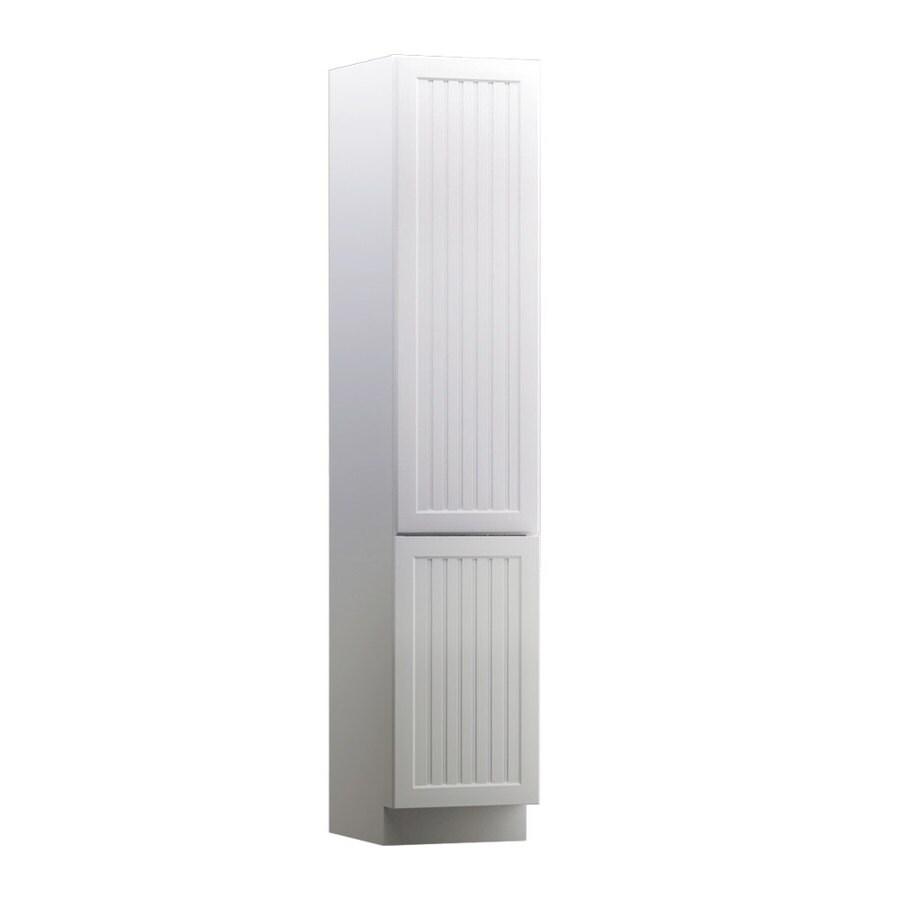 KraftMaid Nordic 15-in W x 88.5-in H x 21-in D Maple Linen Cabinet
