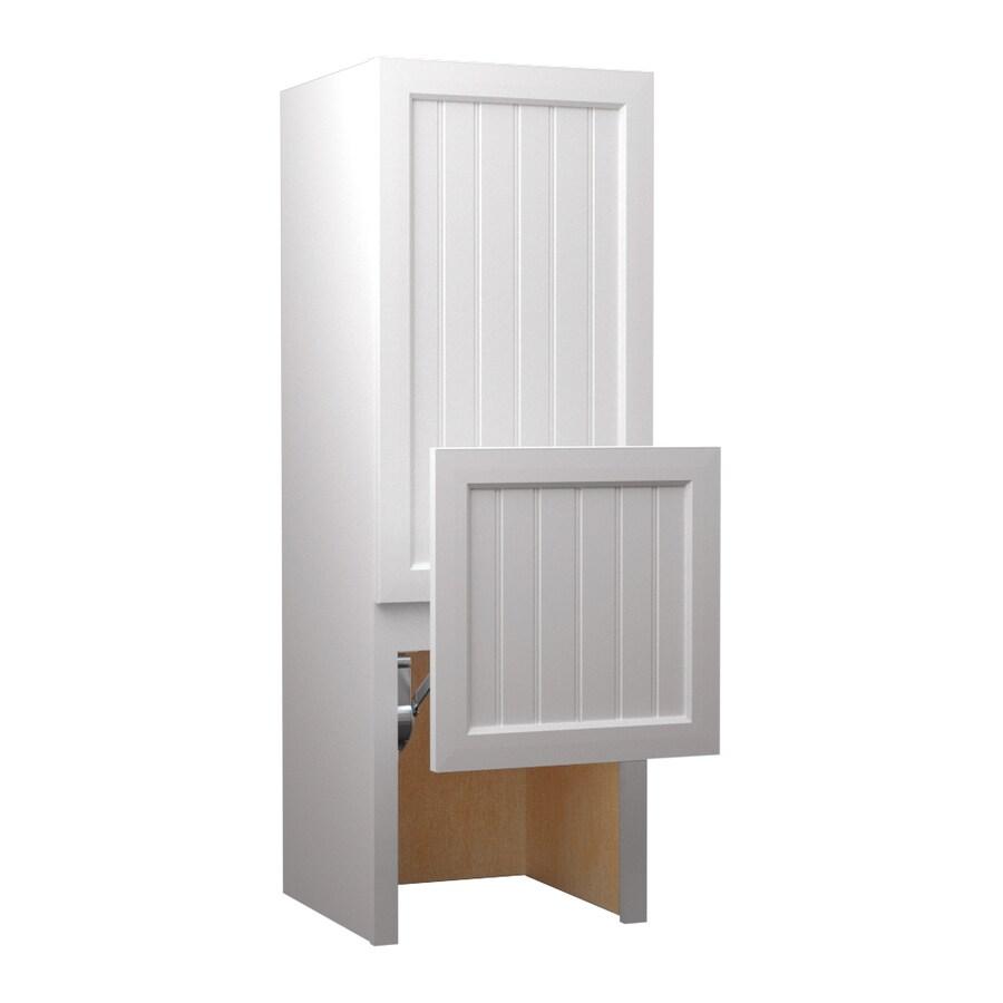 KraftMaid 18-in W x 52.5-in H x 18-in D Maple Freestanding Cabinet Banks