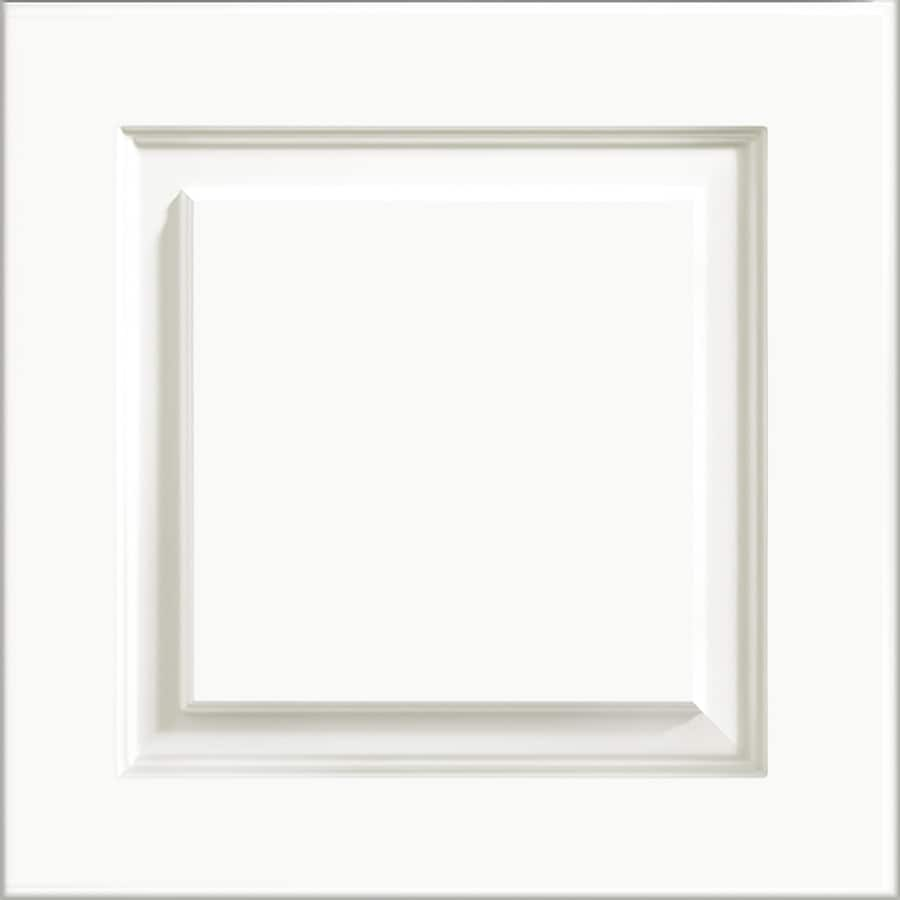 White Kitchen Cabinet Doors Only: Shop KraftMaid North Bay Thermofoil White 15-in X 15-in