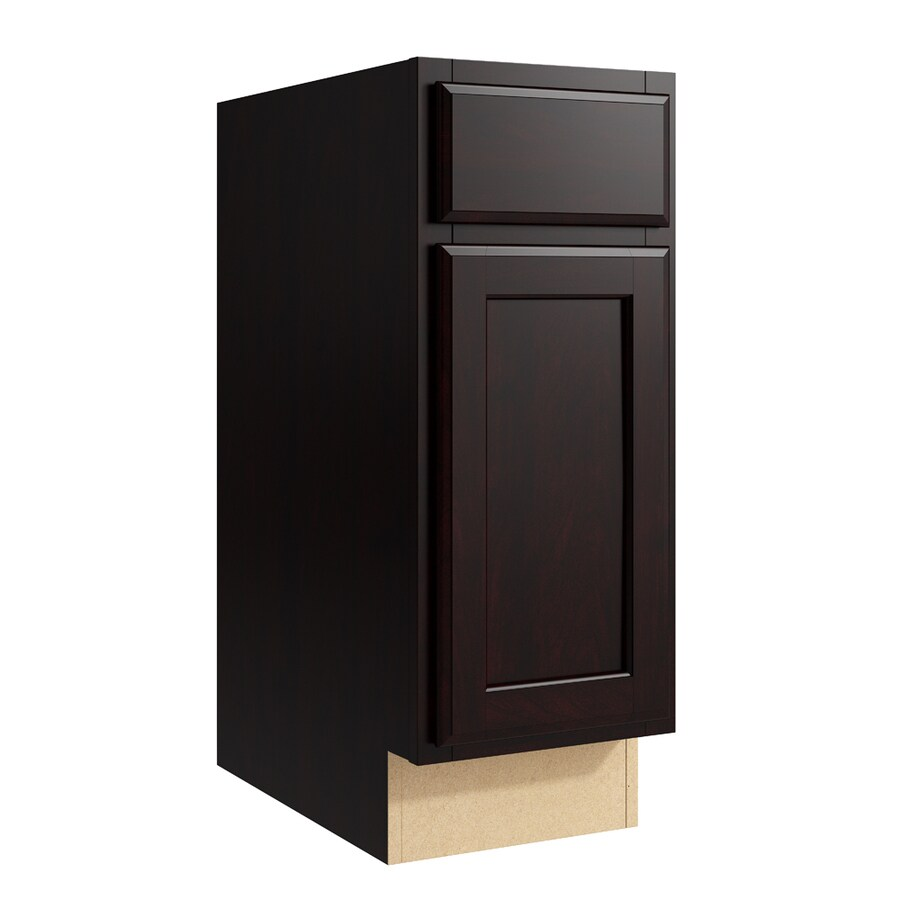 KraftMaid Momentum Kona Kingston 1-Door Right-Hinged Base Cabinet (Common: 12-in x 21-in x 31.5-in; Actual: 12-in x 21-in x 31.5-in)