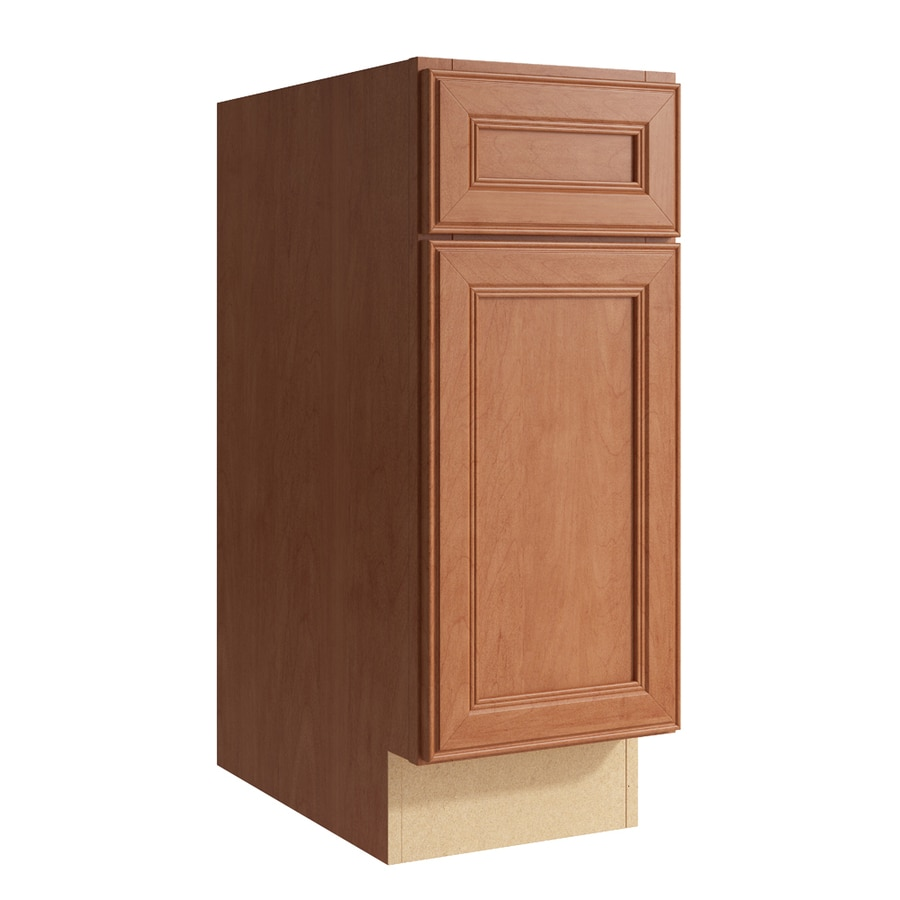 KraftMaid Momentum Hazelnut Bellamy 1-Door Left-Hinged Base Cabinet (Common: 12-in x 21-in x 31.5-in; Actual: 12-in x 21-in x 31.5-in)