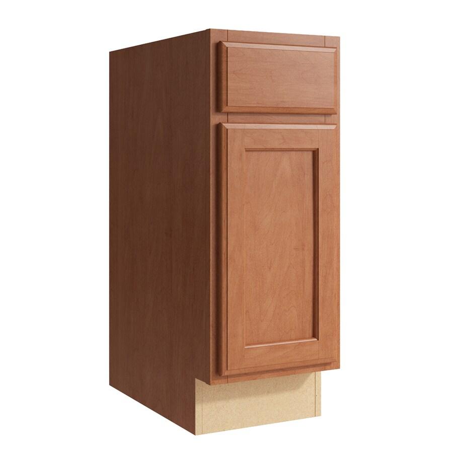 KraftMaid Momentum Hazelnut Kingston 1-Door Left-Hinged Base Cabinet (Common: 12-in x 21-in x 31.5-in; Actual: 12-in x 21-in x 31.5-in)
