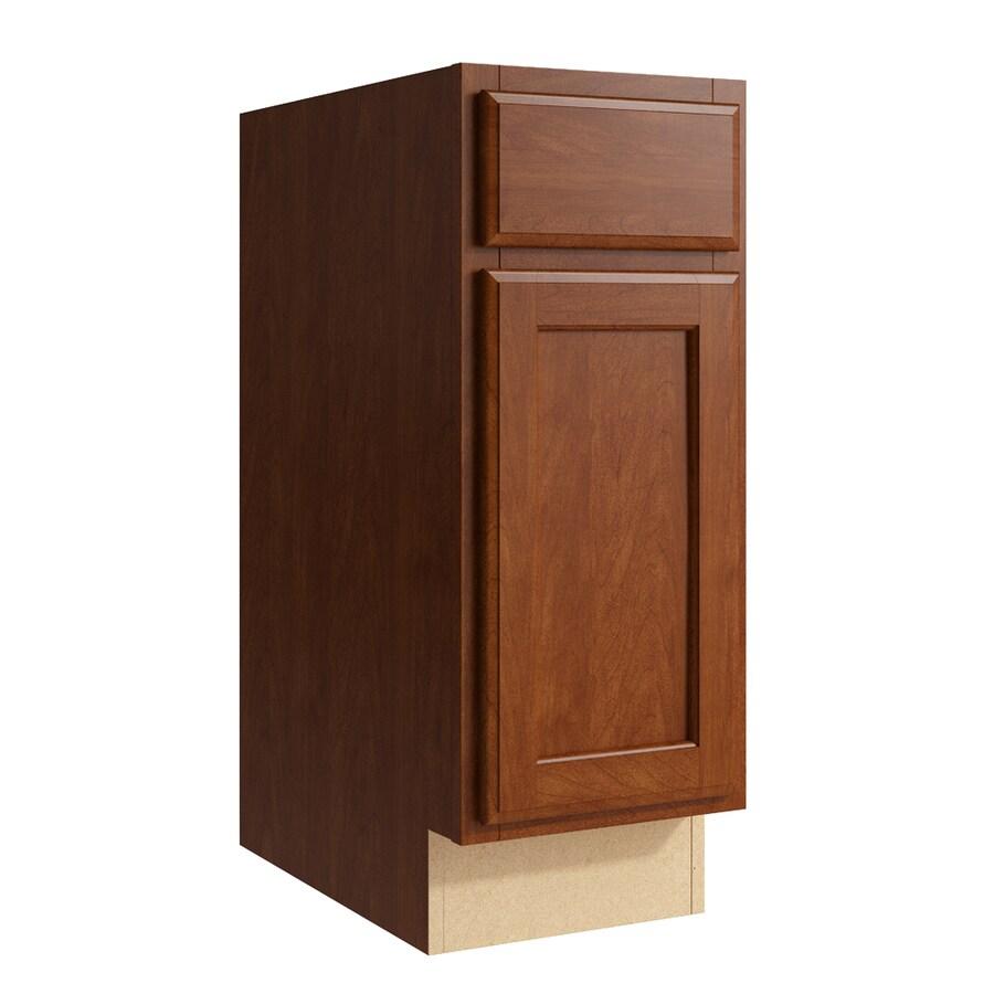 KraftMaid Momentum Sable Kingston 1-Door Left-Hinged Base Cabinet (Common: 12-in x 21-in x 31.5-in; Actual: 12-in x 21-in x 31.5-in)