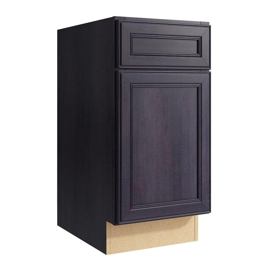 KraftMaid Momentum Dusk Bellamy 1-Door Left-Hinged Base Cabinet (Common: 15-in x 21-in x 31.5-in; Actual: 15-in x 21-in x 31.5-in)