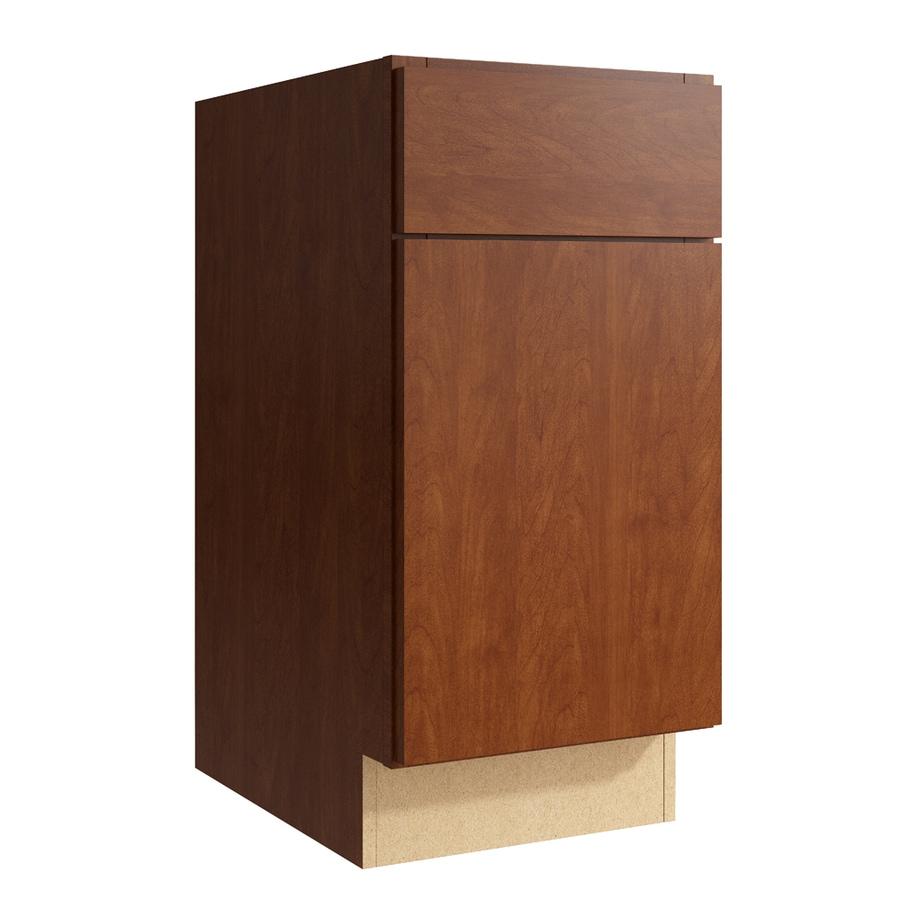 KraftMaid Momentum Sable Frontier 1-Door Left-Hinged Base Cabinet (Common: 15-in x 21-in x 31.5-in; Actual: 15-in x 21-in x 31.5-in)