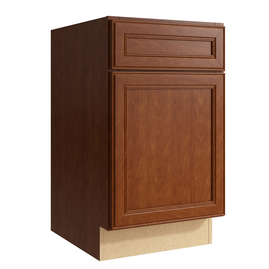 KraftMaid Momentum Sable Bellamy 1-Door Right-Hinged Base Cabinet (Common: 18-in x 21-in x 31.5-in; Actual: 18-in x 21-in x 31.5-in)