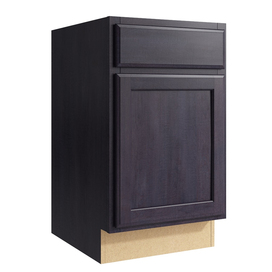KraftMaid Momentum Dusk Kingston 1-Door Right-Hinged Base Cabinet (Common: 18-in x 21-in x 31.5-in; Actual: 18-in x 21-in x 31.5-in)
