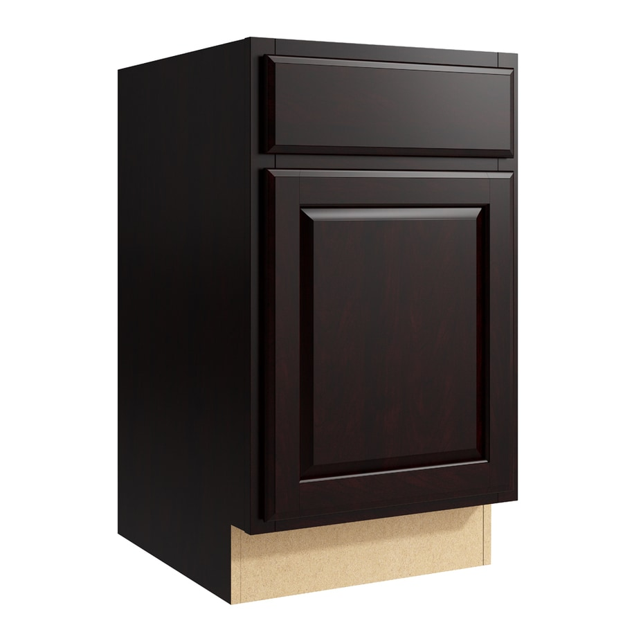 KraftMaid Momentum Kona Settler 1-Door Right-Hinged Base Cabinet (Common: 18-in x 21-in x 31.5-in; Actual: 18-in x 21-in x 31.5-in)