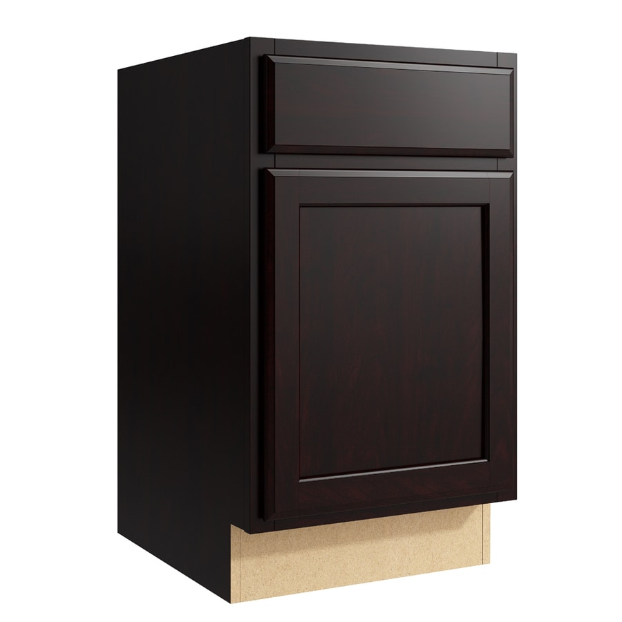 KraftMaid Momentum Kona Kingston 1-Door Left-Hinged Base Cabinet (Common: 18-in x 21-in x 31.5-in; Actual: 18-in x 21-in x 31.5-in)