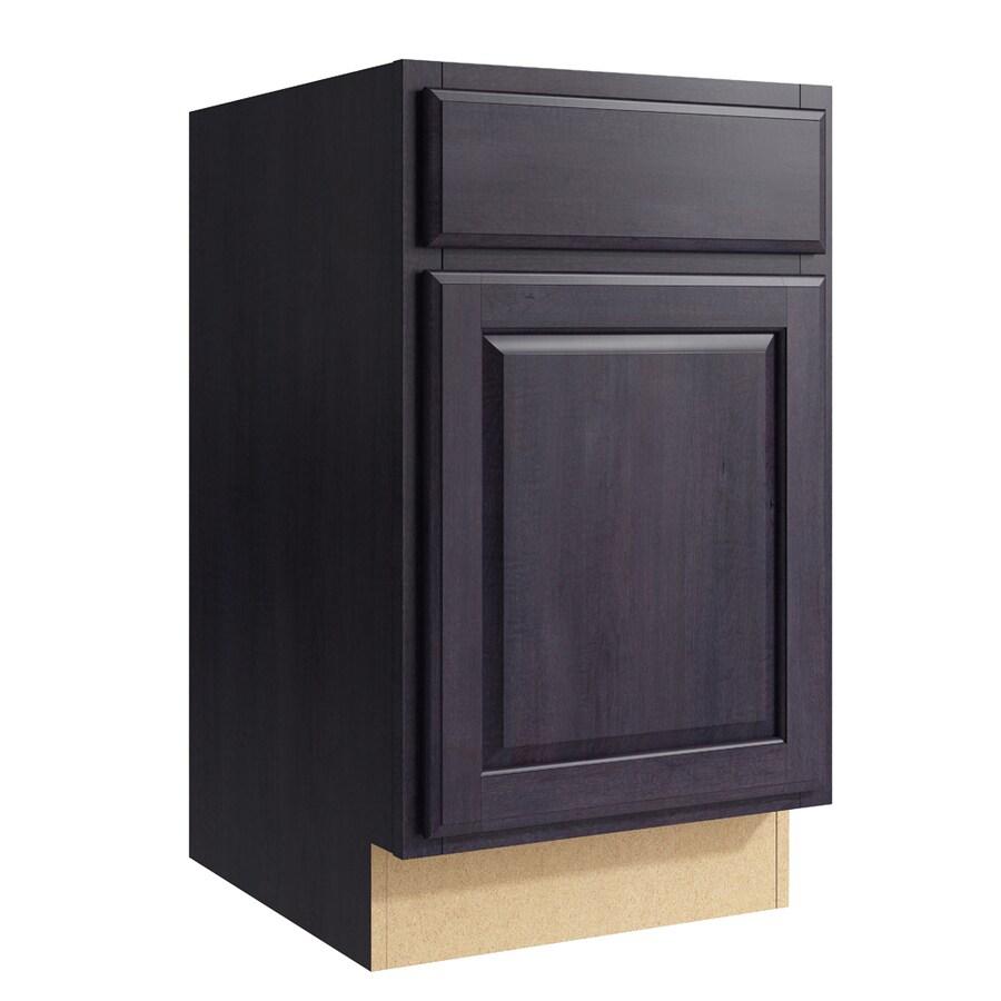 KraftMaid Momentum Dusk Settler 1-Door Left-Hinged Base Cabinet (Common: 18-in x 21-in x 31.5-in; Actual: 18-in x 21-in x 31.5-in)