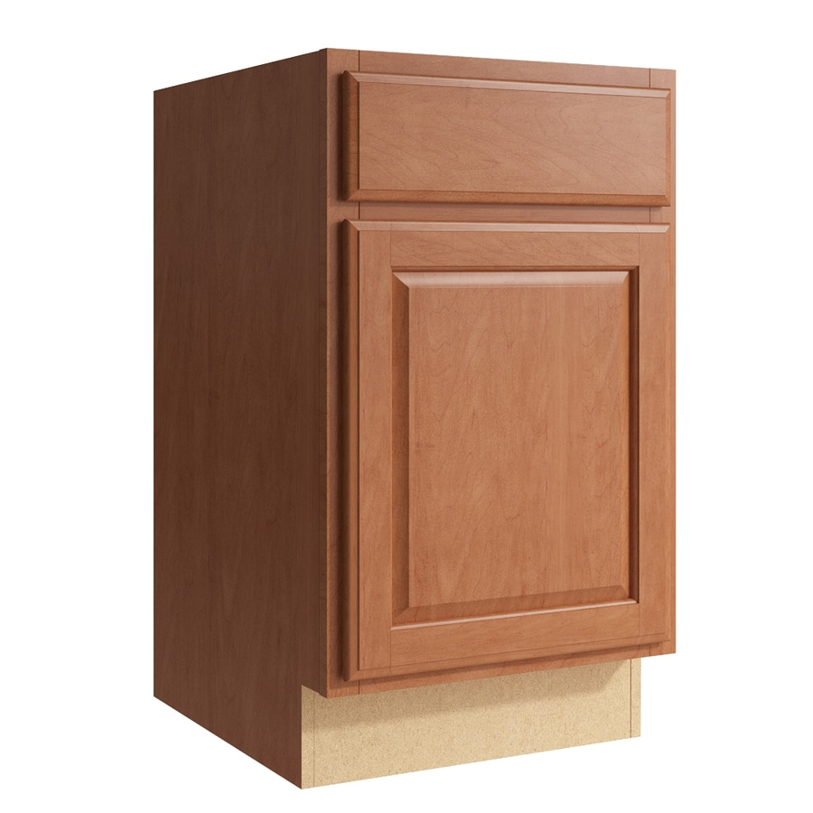 KraftMaid Momentum Hazelnut Settler 1-Door Left-Hinged Base Cabinet (Common: 18-in x 21-in x 31.5-in; Actual: 18-in x 21-in x 31.5-in)