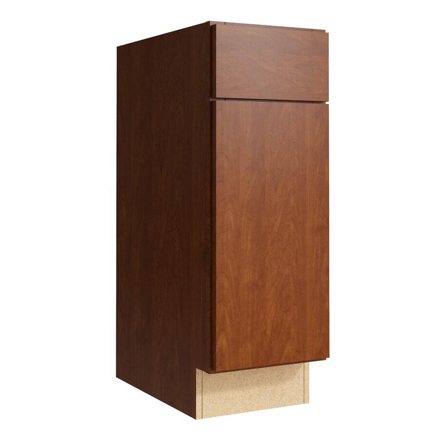KraftMaid Momentum Sable Frontier 1-Door Right-Hinged Base Cabinet (Common: 12-in x 21-in x 34.5-in; Actual: 12-in x 21-in x 34.5-in)