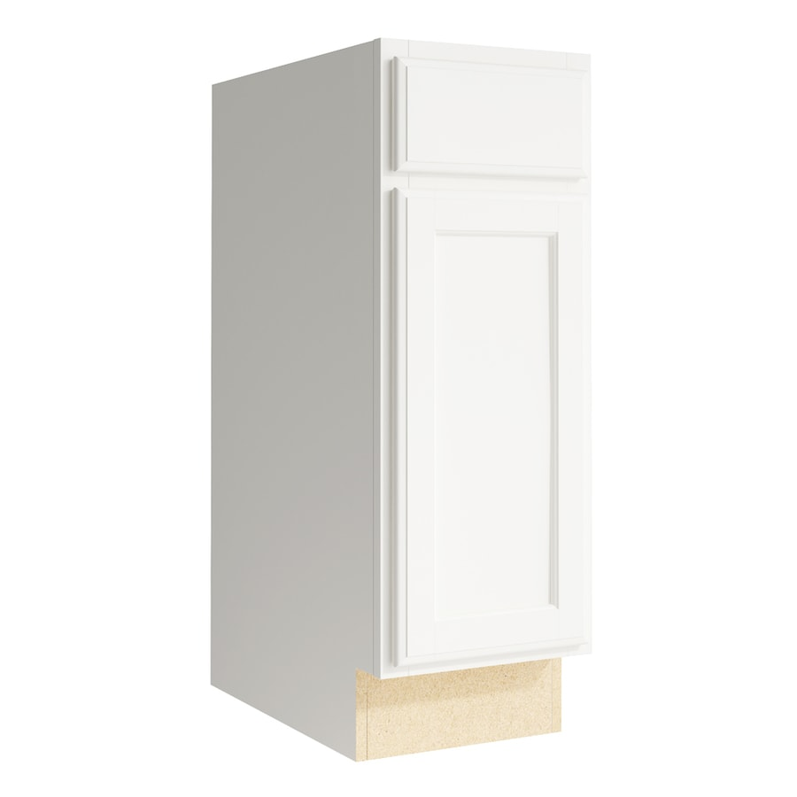 KraftMaid Momentum Cotton Kingston 1-Door Right-Hinged Base Cabinet (Common: 12-in x 21-in x 34.5-in; Actual: 12-in x 21-in x 34.5-in)