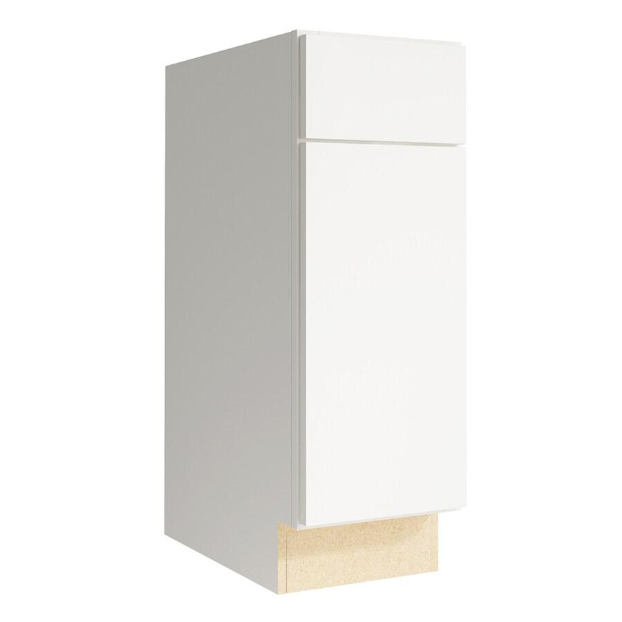 KraftMaid Momentum Cotton Frontier 1-Door Left-Hinged Base Cabinet (Common: 12-in x 21-in x 34.5-in; Actual: 12-in x 21-in x 34.5-in)