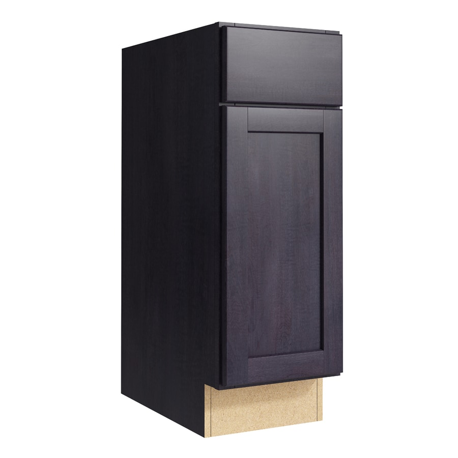 KraftMaid Momentum Dusk Paxton 1-Door Left-Hinged Base Cabinet (Common: 12-in x 21-in x 34.5-in; Actual: 12-in x 21-in x 34.5-in)