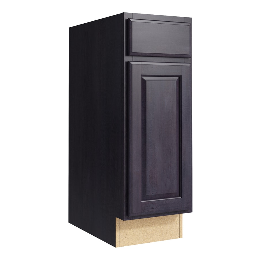 KraftMaid Momentum Dusk Settler 1-Door Left-Hinged Base Cabinet (Common: 12-in x 21-in x 34.5-in; Actual: 12-in x 21-in x 34.5-in)