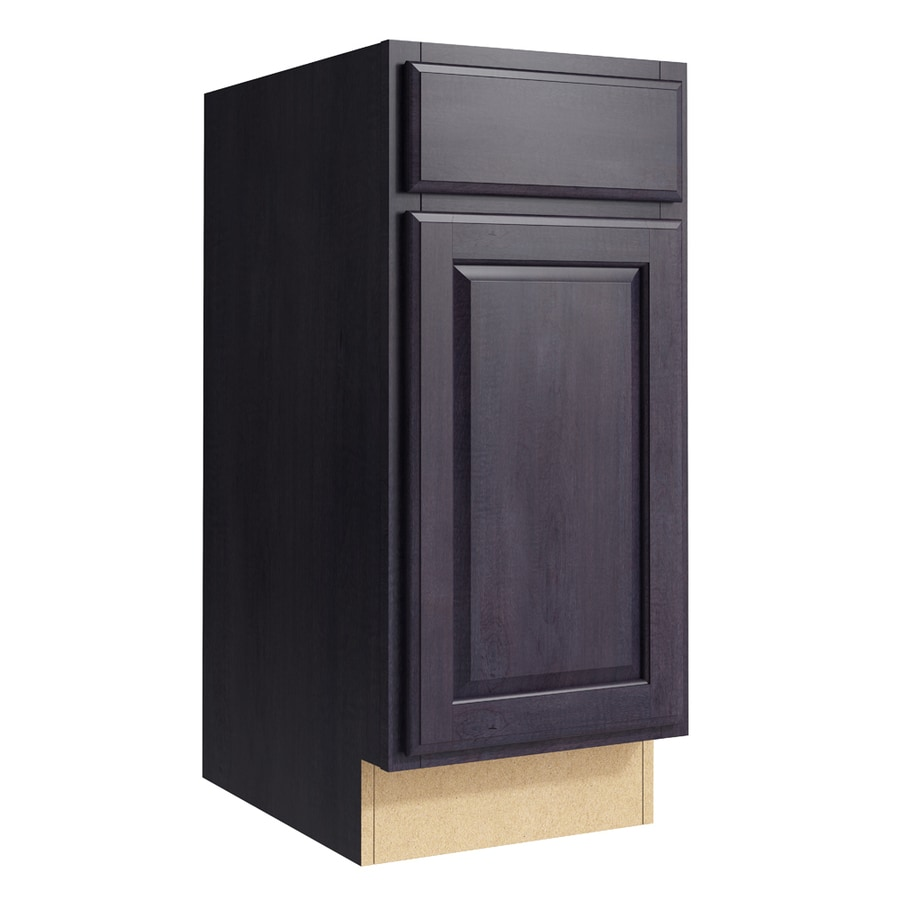 KraftMaid Momentum Dusk Settler 1-Door Right-Hinged Base Cabinet (Common: 15-in x 21-in x 34.5-in; Actual: 15-in x 21-in x 34.5-in)