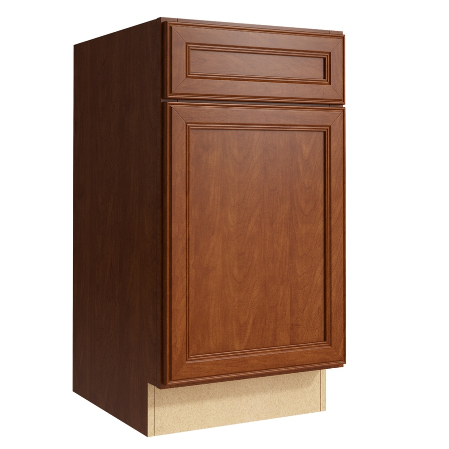 KraftMaid Momentum Sable Bellamy 1-Door Right-Hinged Base Cabinet (Common: 18-in x 21-in x 34.5-in; Actual: 18-in x 21-in x 34.5-in)