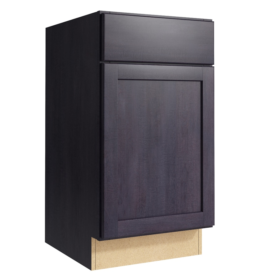 KraftMaid Momentum Dusk Paxton 1-Door Right-Hinged Base Cabinet (Common: 18-in x 21-in x 34.5-in; Actual: 18-in x 21-in x 34.5-in)