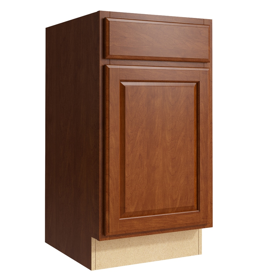 KraftMaid Momentum Sable Settler 1-Door Right-Hinged Base Cabinet (Common: 18-in x 21-in x 34.5-in; Actual: 18-in x 21-in x 34.5-in)