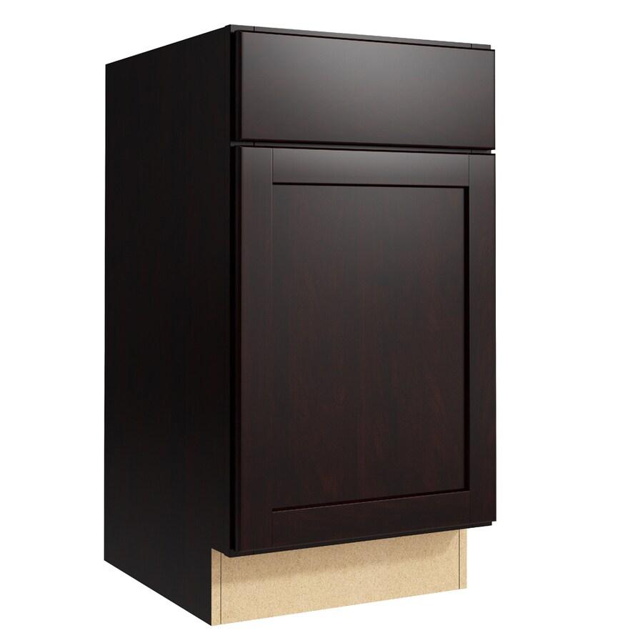 KraftMaid Momentum Kona Paxton 1-Door Left-Hinged Base Cabinet (Common: 18-in x 21-in x 34.5-in; Actual: 18-in x 21-in x 34.5-in)