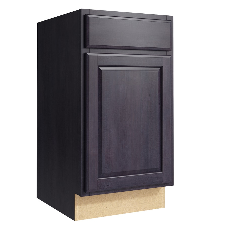 KraftMaid Momentum Dusk Settler 1-Door Left-Hinged Base Cabinet (Common: 18-in x 21-in x 34.5-in; Actual: 18-in x 21-in x 34.5-in)