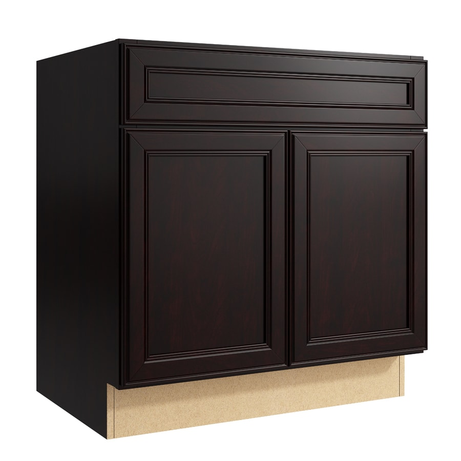 KraftMaid Momentum Kona Bellamy 2-Door Base Cabinet (Common: 30-in x 21-in x 31.5-in; Actual: 30-in x 21-in x 31.5-in)