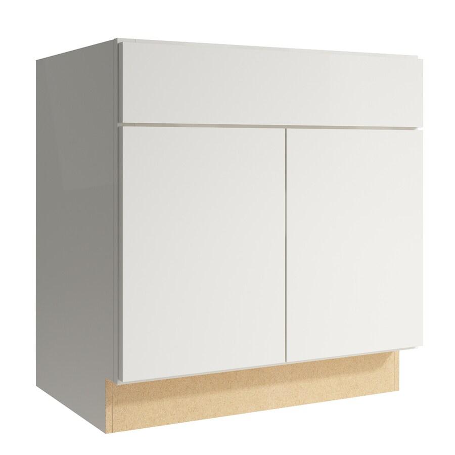 KraftMaid Momentum Cotton Frontier 2-Door Base Cabinet (Common: 30-in x 21-in x 31.5-in; Actual: 30-in x 21-in x 31.5-in)