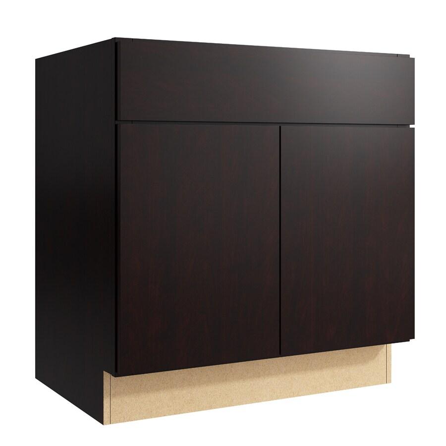 KraftMaid Momentum Kona Frontier 2-Door Base Cabinet (Common: 30-in x 21-in x 31.5-in; Actual: 30-in x 21-in x 31.5-in)