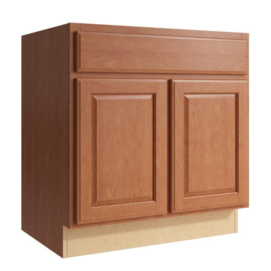 KraftMaid Momentum Hazelnut Settler 2-Door Base Cabinet (Common: 30-in x 21-in x 31.5-in; Actual: 30-in x 21-in x 31.5-in)