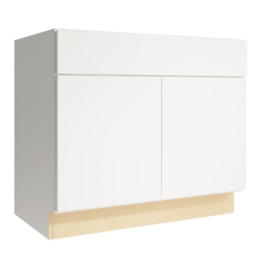 KraftMaid Momentum Cotton Frontier 2-Door Base Cabinet (Common: 36-in x 21-in x 31.5-in; Actual: 36-in x 21-in x 31.5-in)