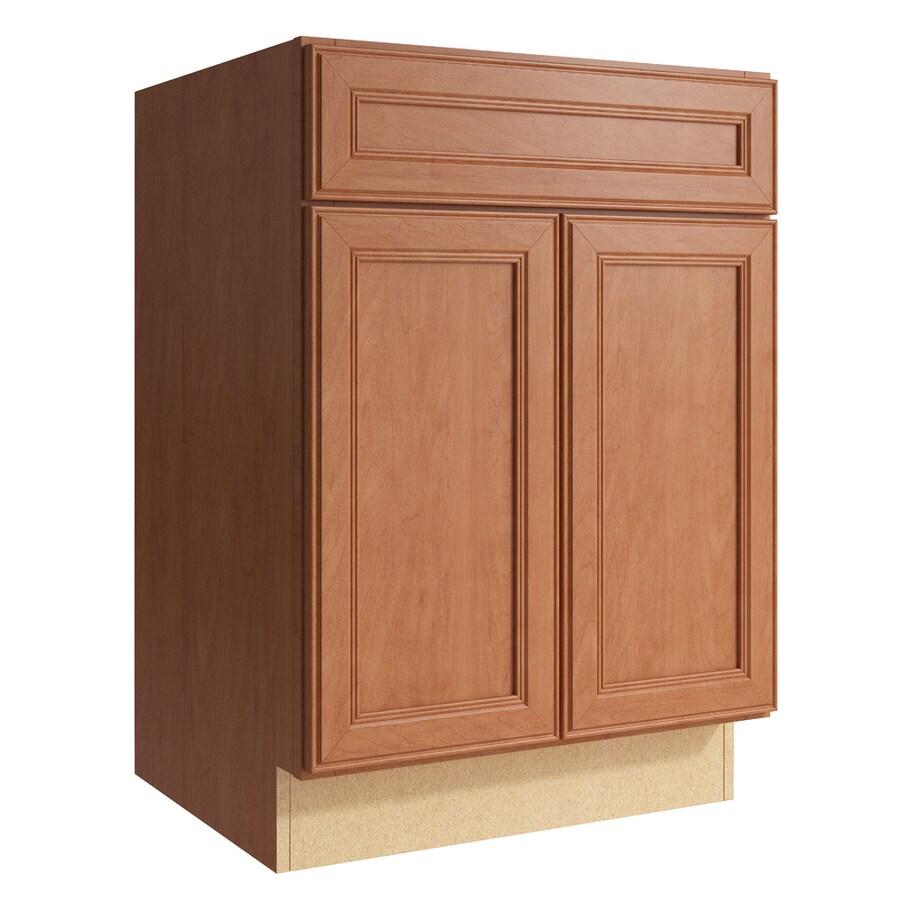 KraftMaid Momentum Hazelnut Bellamy 2-Door Base Cabinet (Common: 24-in x 21-in x 34.5-in; Actual: 24-in x 21-in x 34.5-in)